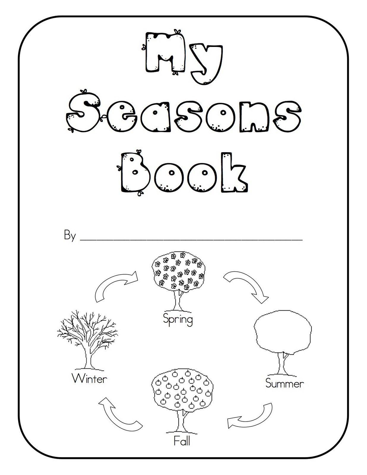 Seasons Worksheets for Kindergarten Seasons