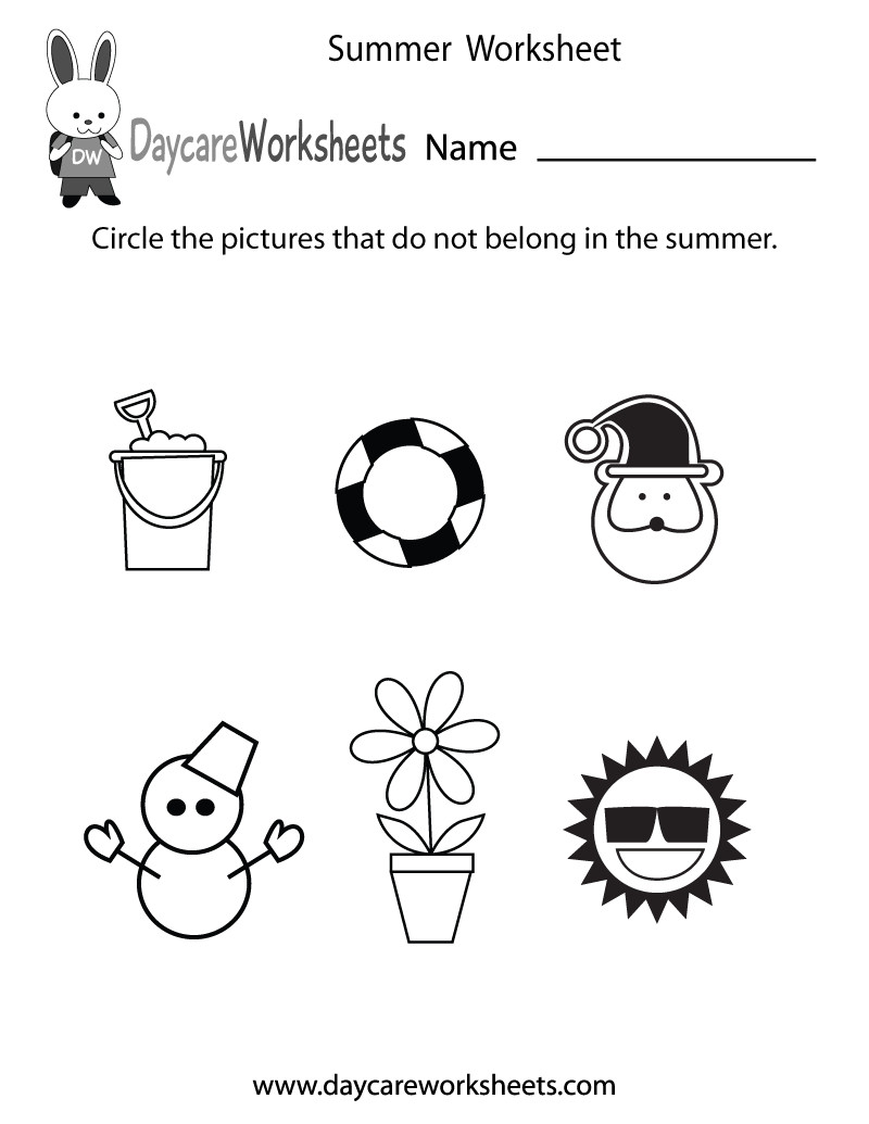 Seasons Worksheets for Preschoolers Free Printable Seasons Worksheets