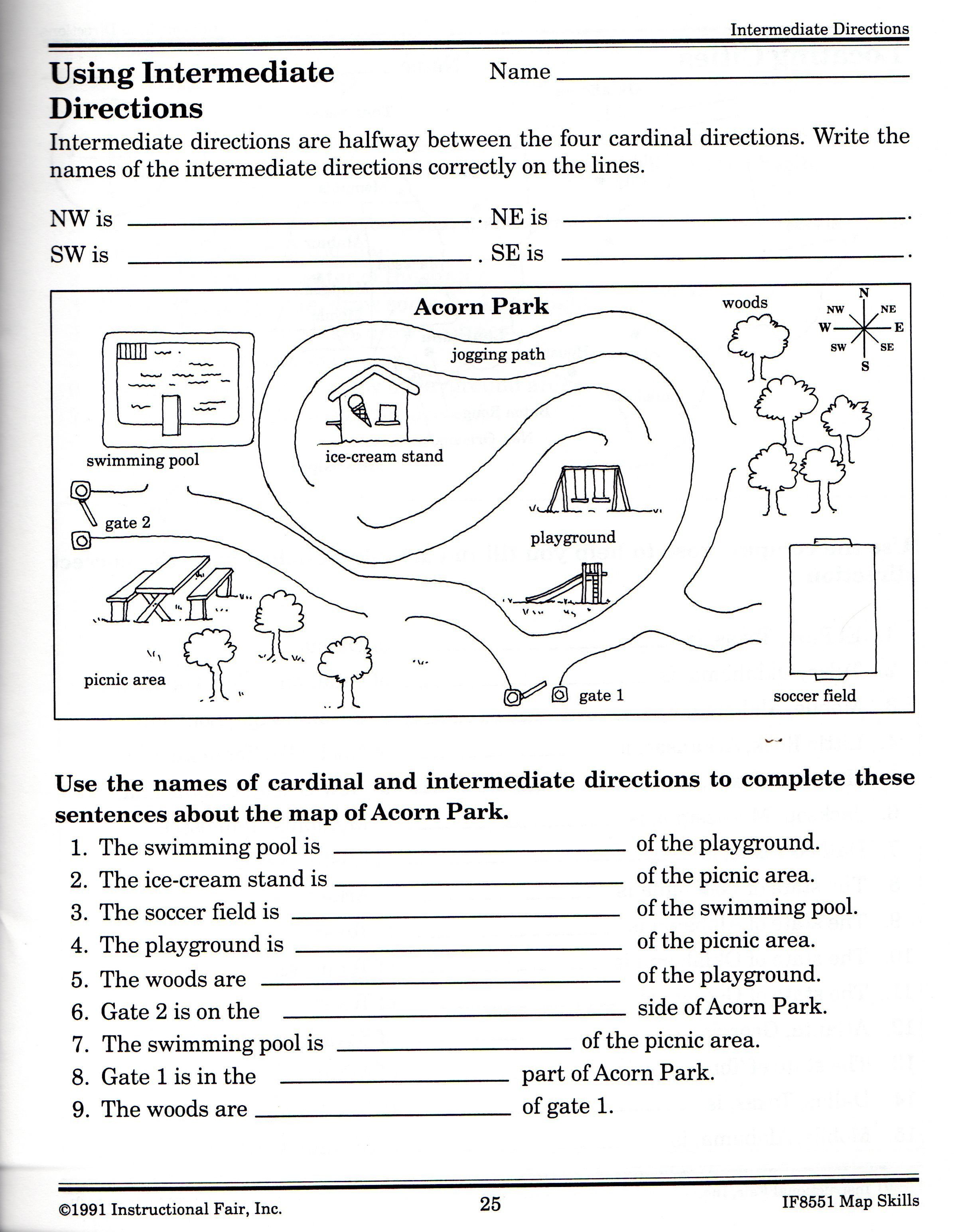 Second Grade Map Skills Worksheets 21 Awesome Following Directions Worksheet for You