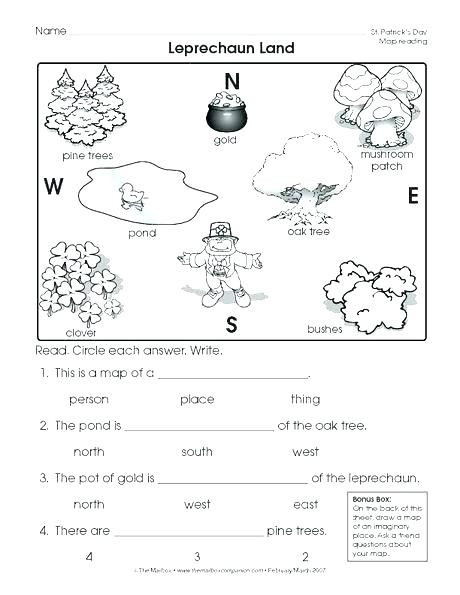 Second Grade Map Skills Worksheets First Grade Geography Worksheets Goodaction 1st 6th Coin 4th