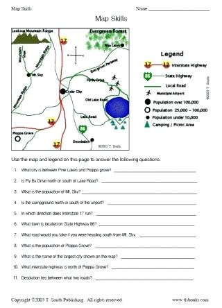 Second Grade Map Skills Worksheets First Grade Geography Worksheets – Goodaction