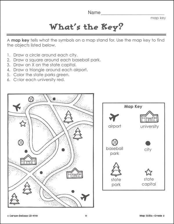 Second Grade Map Skills Worksheets I1 600—774