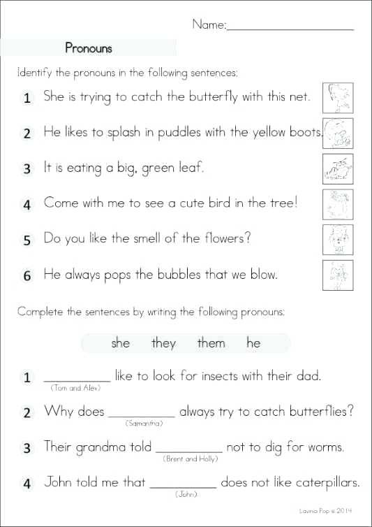Second Grade Pronouns Worksheet Nouns and Pronouns Worksheets Nouns and Pronouns Worksheets