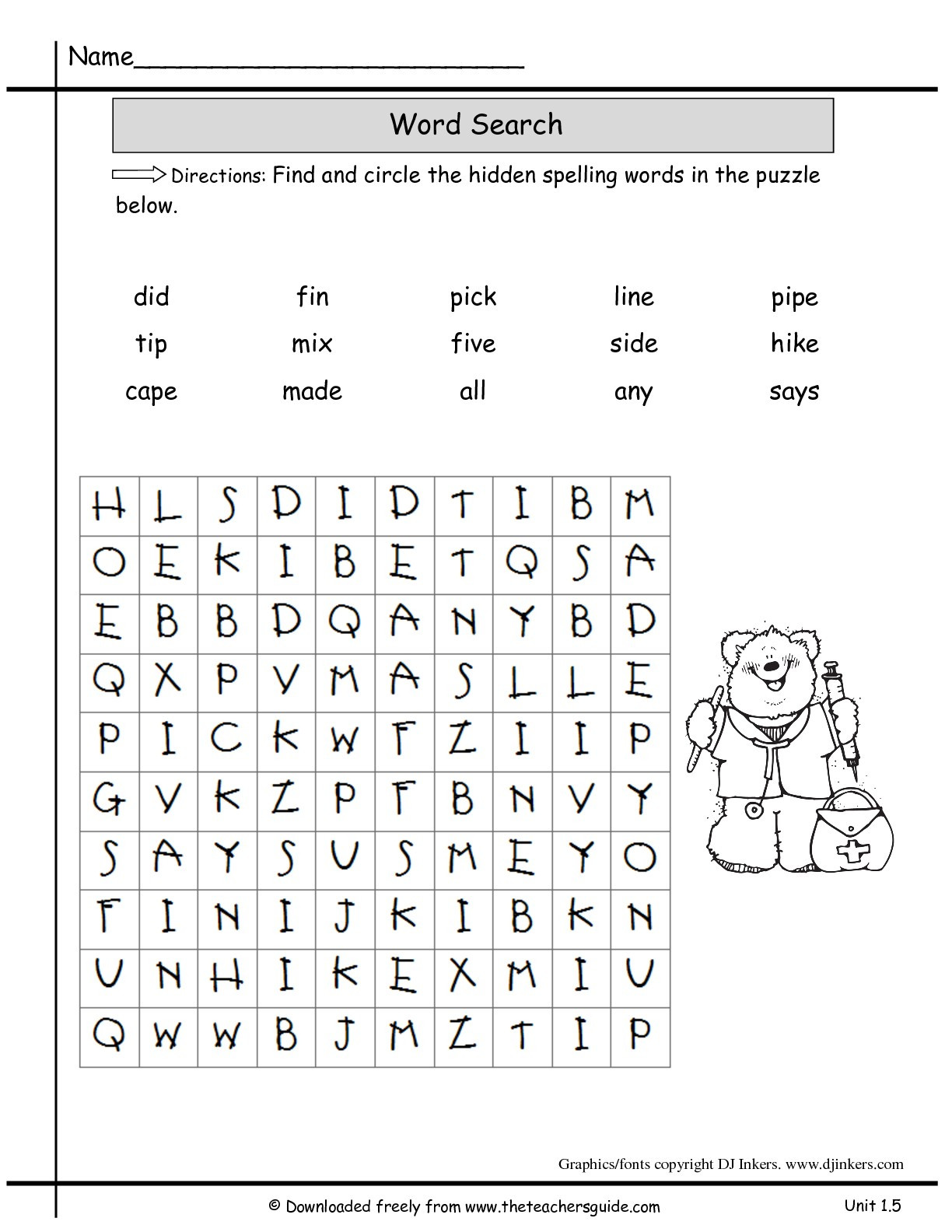 "Second Grade Spelling Worksheets Spelling Words for 2nd Grade Printable لم يسبق له Ù…Ø ÙŠÙ"" الصور"