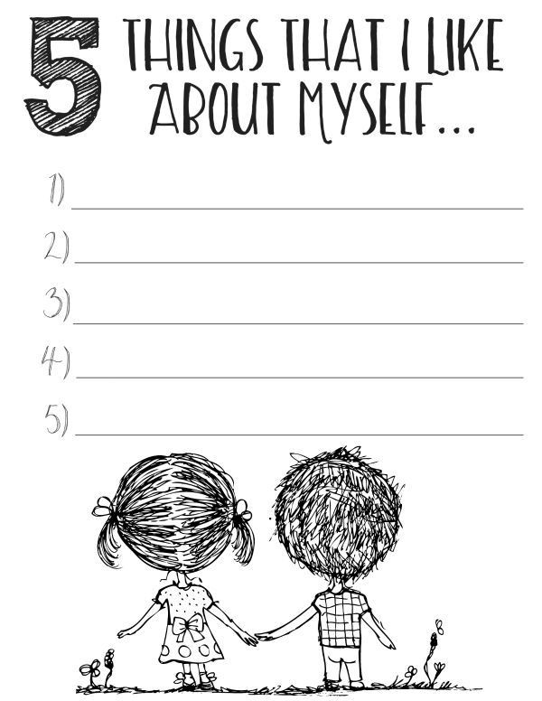 Self Esteem Printable Worksheets Free Printable Self Esteem Worksheets