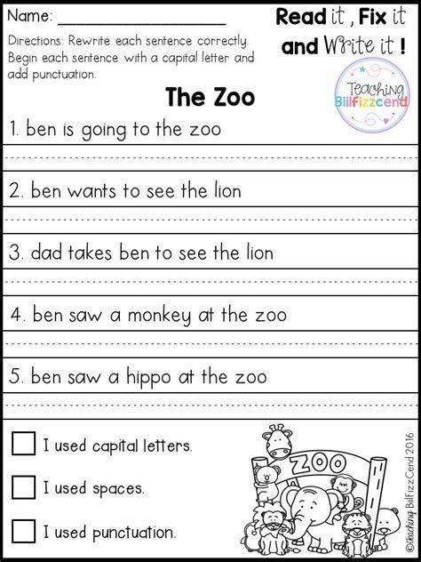 Sentence Worksheets First Grade Best 25 Simple Sentences Worksheet