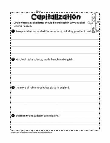 Sentence Worksheets First Grade Fix the Sentences Worksheets