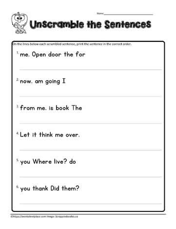 Sentence Worksheets for First Grade Jumbled Sentences Lessons Tes Teach