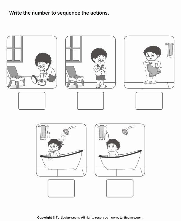 Sequence Worksheets for Kindergarten Kindergarten Sequencing Worksheet Irma Rich Richirma