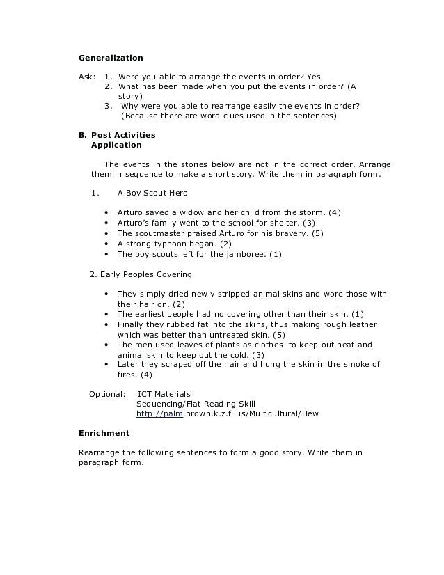 Sequencing events Worksheets Grade 6 order Of events Worksheets – Goodaction