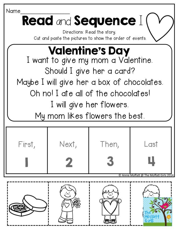 Sequencing Worksheet Kindergarten February Fun Filled Learning