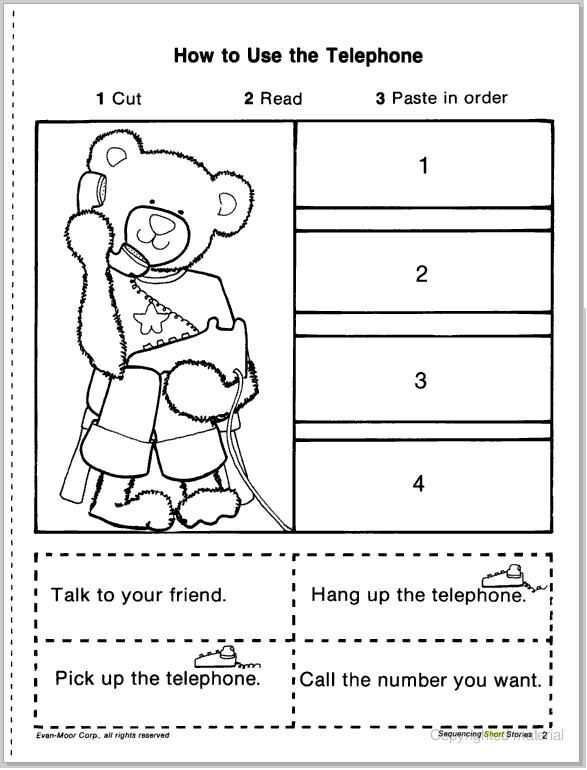 Sequencing Worksheet Kindergarten Sequencing Worksheets for Kindergarten