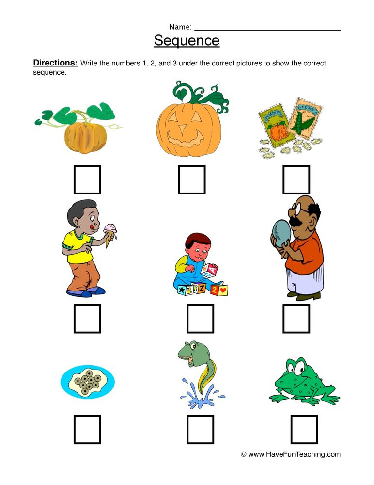 Sequencing Worksheets for Kindergarten Sequence Sandwich Worksheet