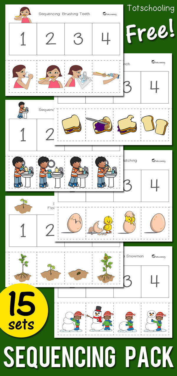 Sequencing Worksheets for Kindergarten Sequencing Activity Pack