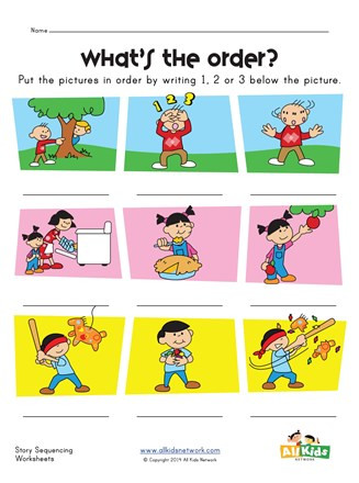 Sequencing Worksheets for Kindergarten Story Sequence Worksheet