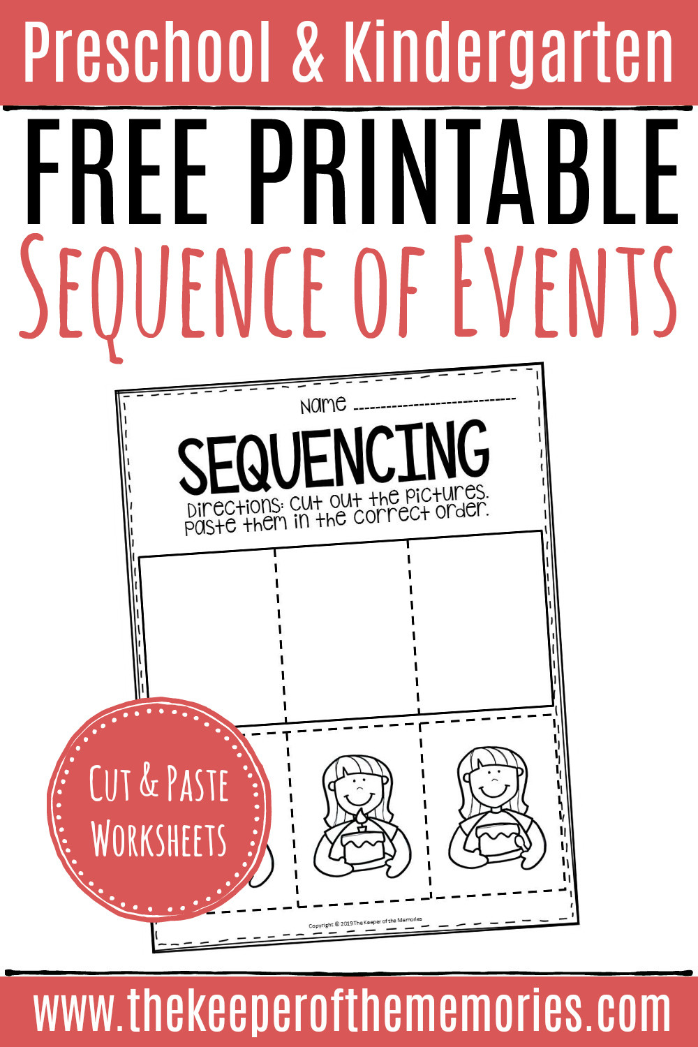 Sequencing Worksheets Kindergarten Free Printable Sequence Of events Worksheets
