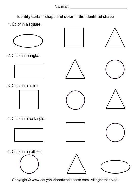 Shapes Worksheet for Kindergarten Basic Shapes Worksheets