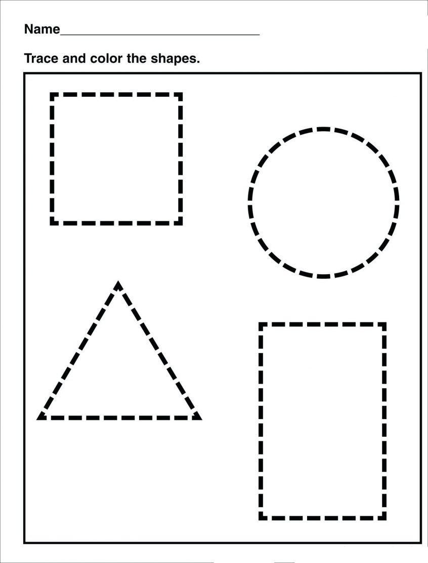 Shapes Worksheet for Kindergarten Free Worksheets for Kindergarten Pdf Clover Hatunisi