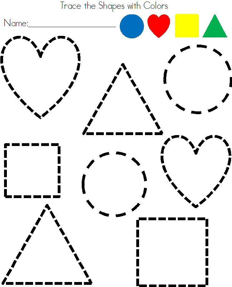 Shapes Worksheet for Kindergarten Shapes Shapes & More Shapes