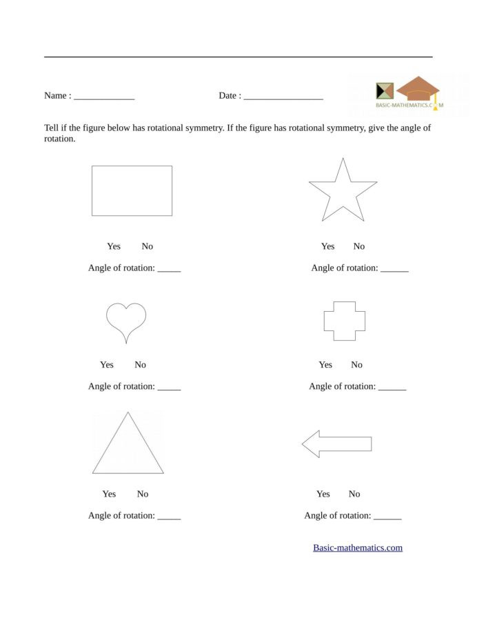 Shapes Worksheets 1st Grade Symmetry Worksheet 1st Grade Printable Worksheets and