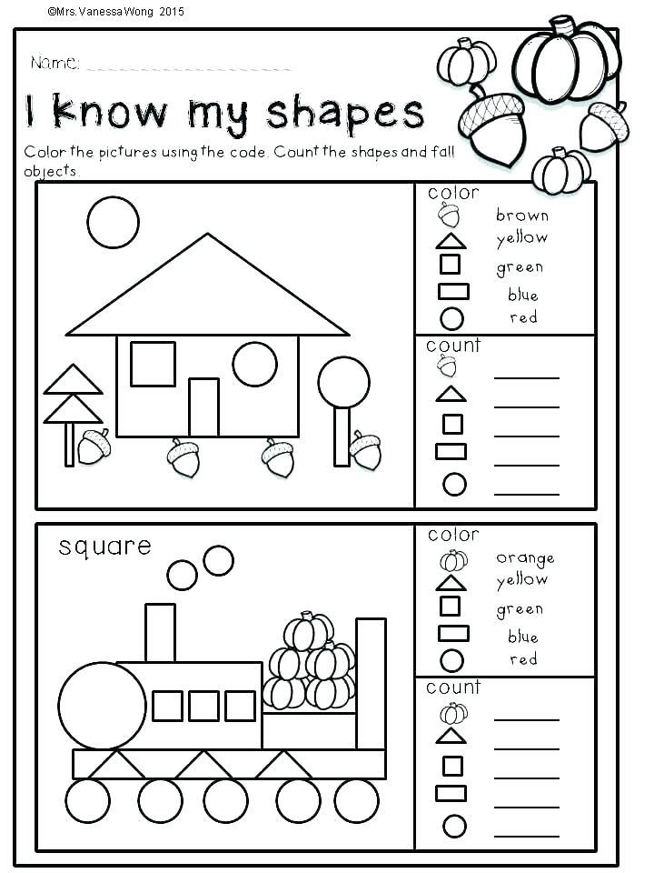 Shapes Worksheets for Kindergarten Shape Identification Worksheets – Dailycrazynews