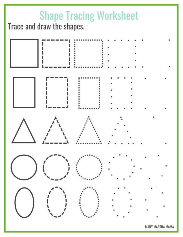 Shapes Worksheets for Kindergarten Shapes Worksheets for Kids
