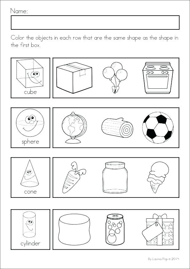 Shapes Worksheets for Kindergarten Shapes Worksheets Kindergarten Geometric Shapes Worksheets