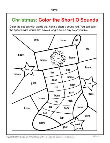 Short O Worksheets for Kindergarten Color the Short O