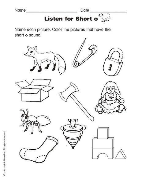 Short O Worksheets for Kindergarten Pin On Printable Worksheet for Kindergarten