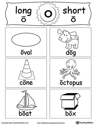 Short O Worksheets for Kindergarten Short and Long Vowel Flashcards O
