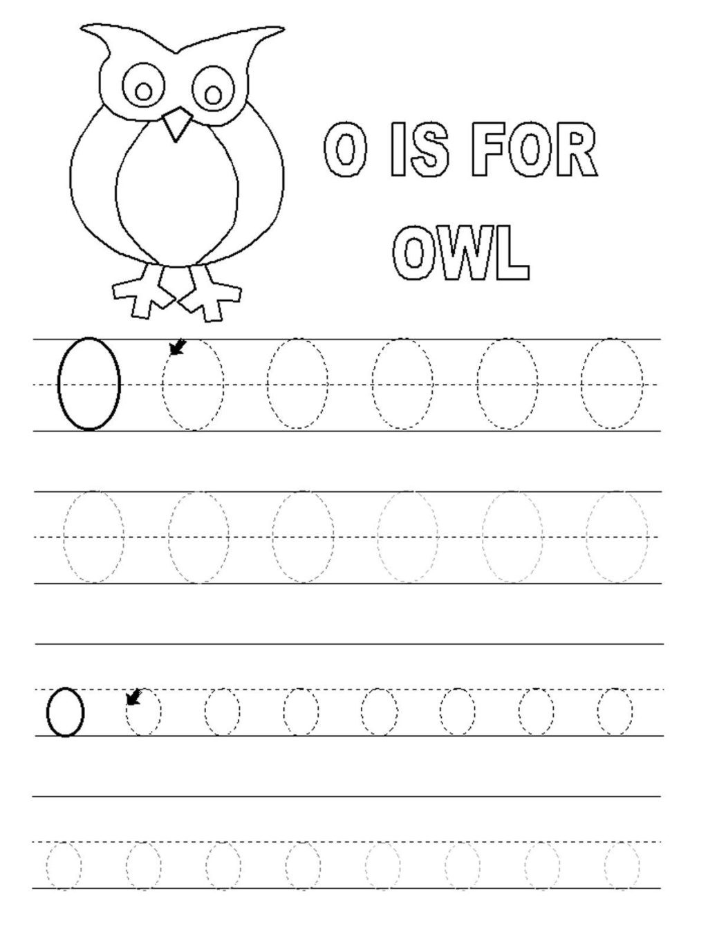 Short O Worksheets for Kindergarten Worksheet Letter O Worksheets forl Alphabet Short
