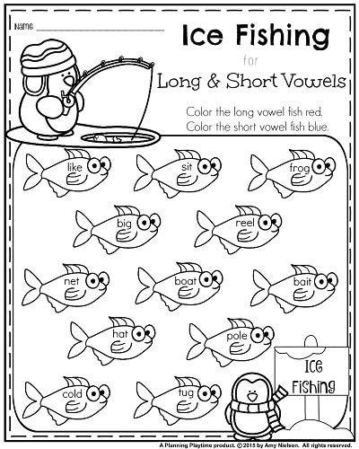 Short Vowel Worksheets 1st Grade 1st Grade Worksheets for January