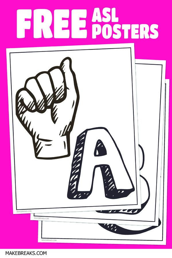 Sign Language Poster Printable asl Alphabet and Letter Posters