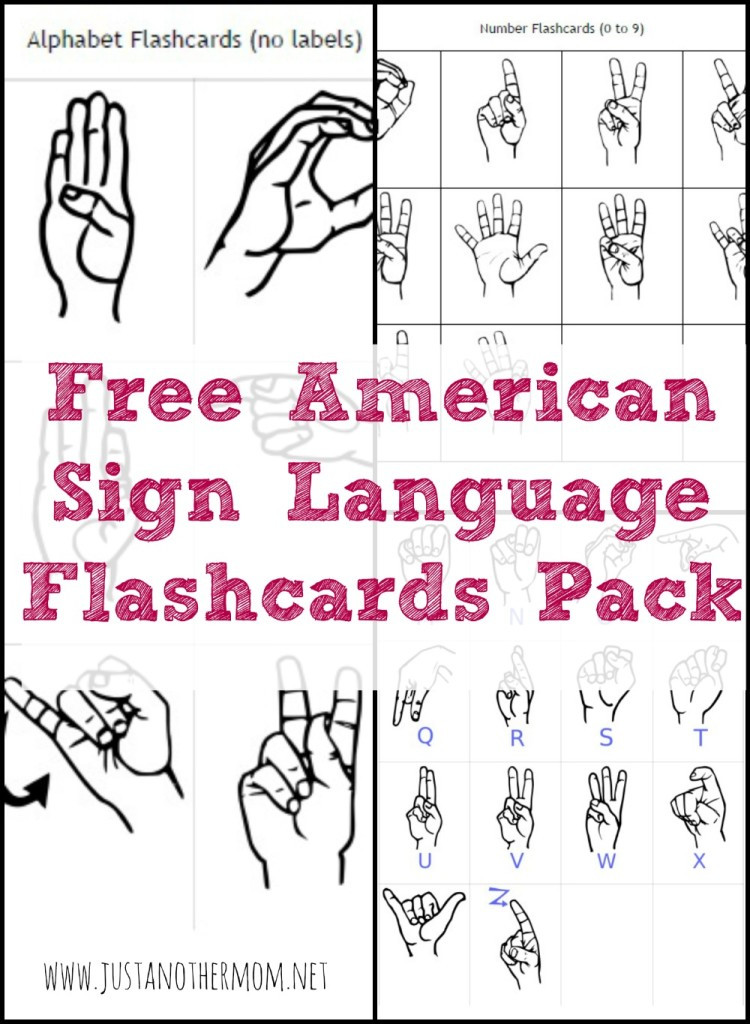 Sign Language Printable Worksheets Free Sign Language Printables and Resources Homeschool