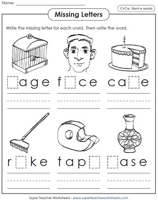 Silent E Worksheets for Kindergarten Silent E Worksheets