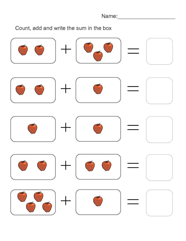 Simple Addition Worksheets for Kindergarten 4 Addition Worksheets Montessori Worksheets