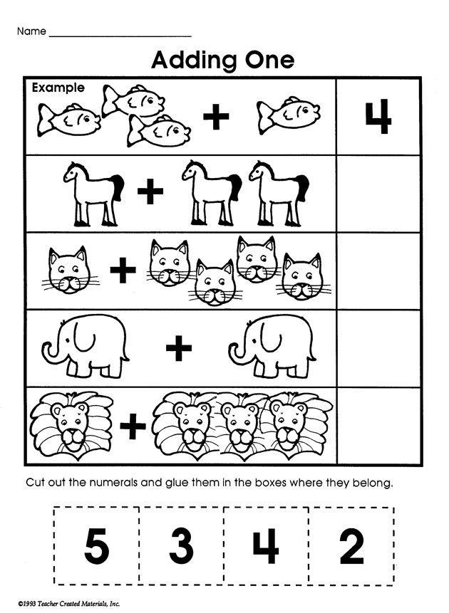 Simple Addition Worksheets for Kindergarten Adding E Printable Addition Worksheet for Kids