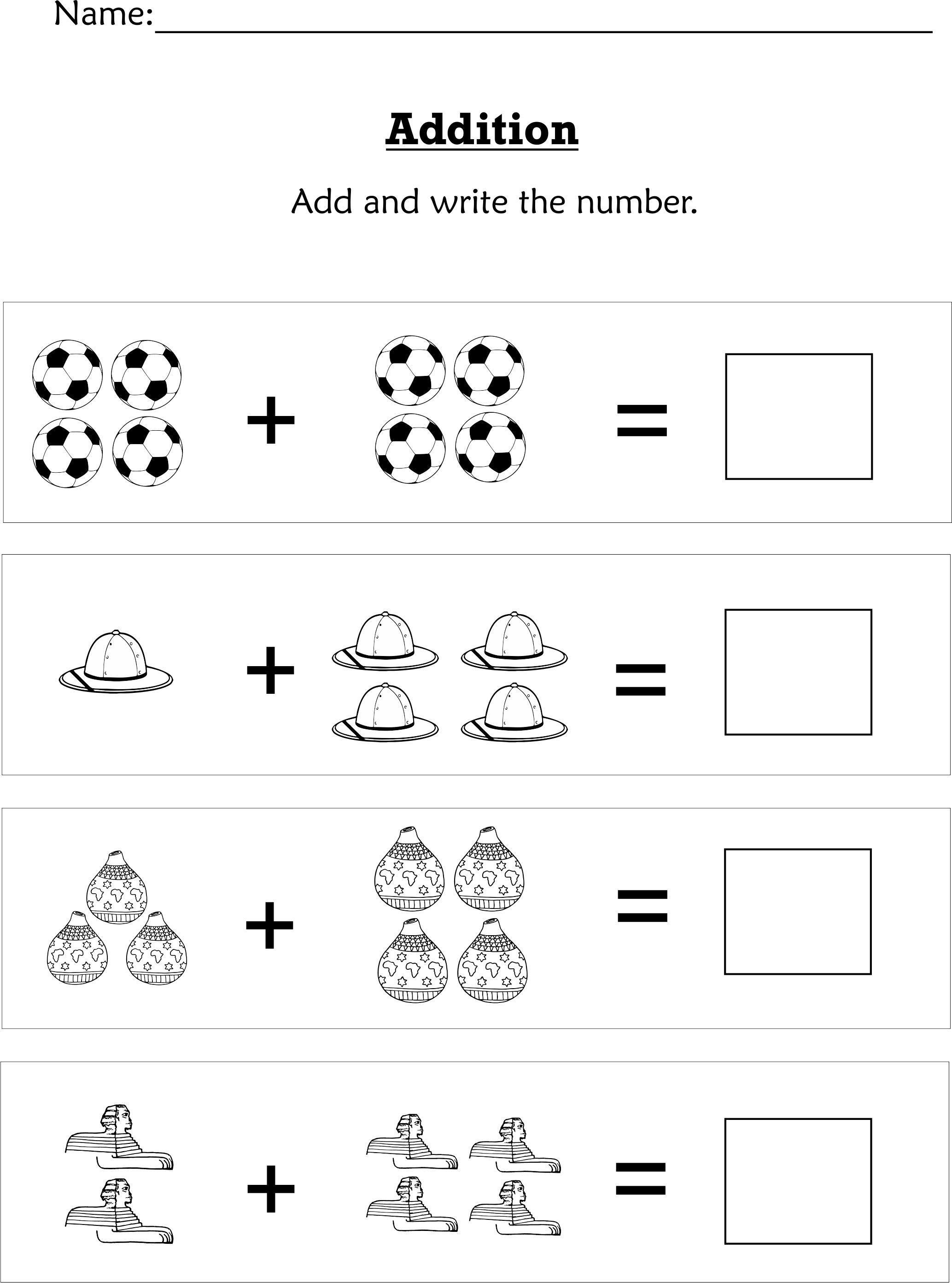 Simple Addition Worksheets for Kindergarten Simple Addition for Preschoolers or Early Kindergartners