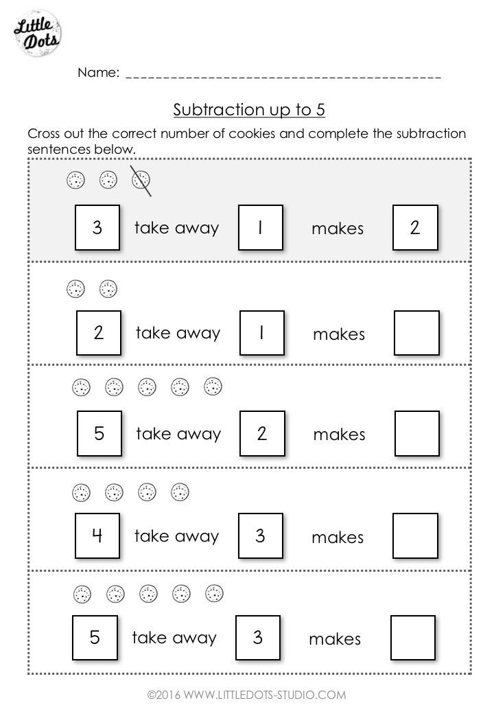 Simple Subtraction Worksheets for Kindergarten Free Subtraction Worksheet for Kindergarten and Grade 1