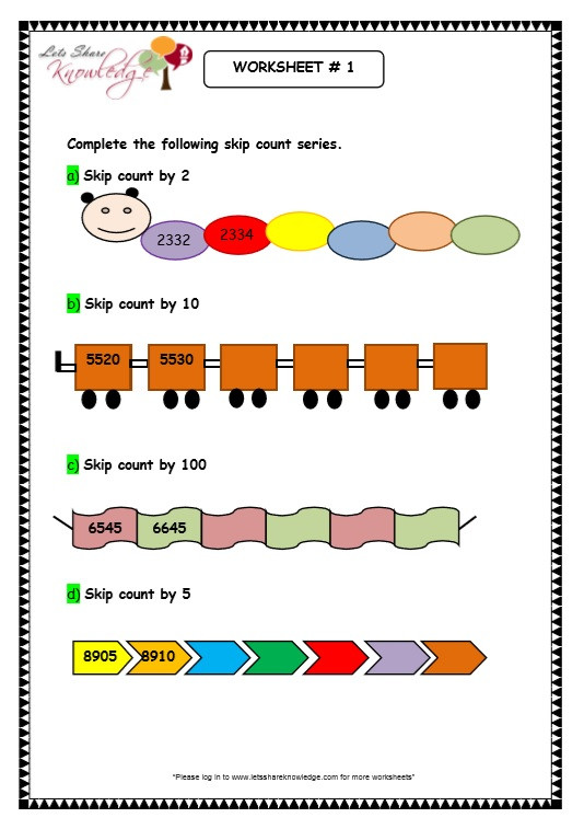 Skip Counting Worksheets 3rd Grade Grade Maths Worksheets Digit Numbers Skip Counting Skipping