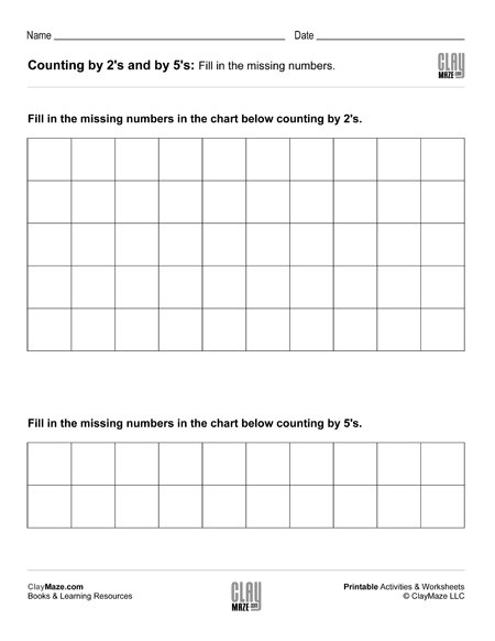 Skip Counting Worksheets 3rd Grade Skip Counting Worksheet – Counting by 2 S and Counting by