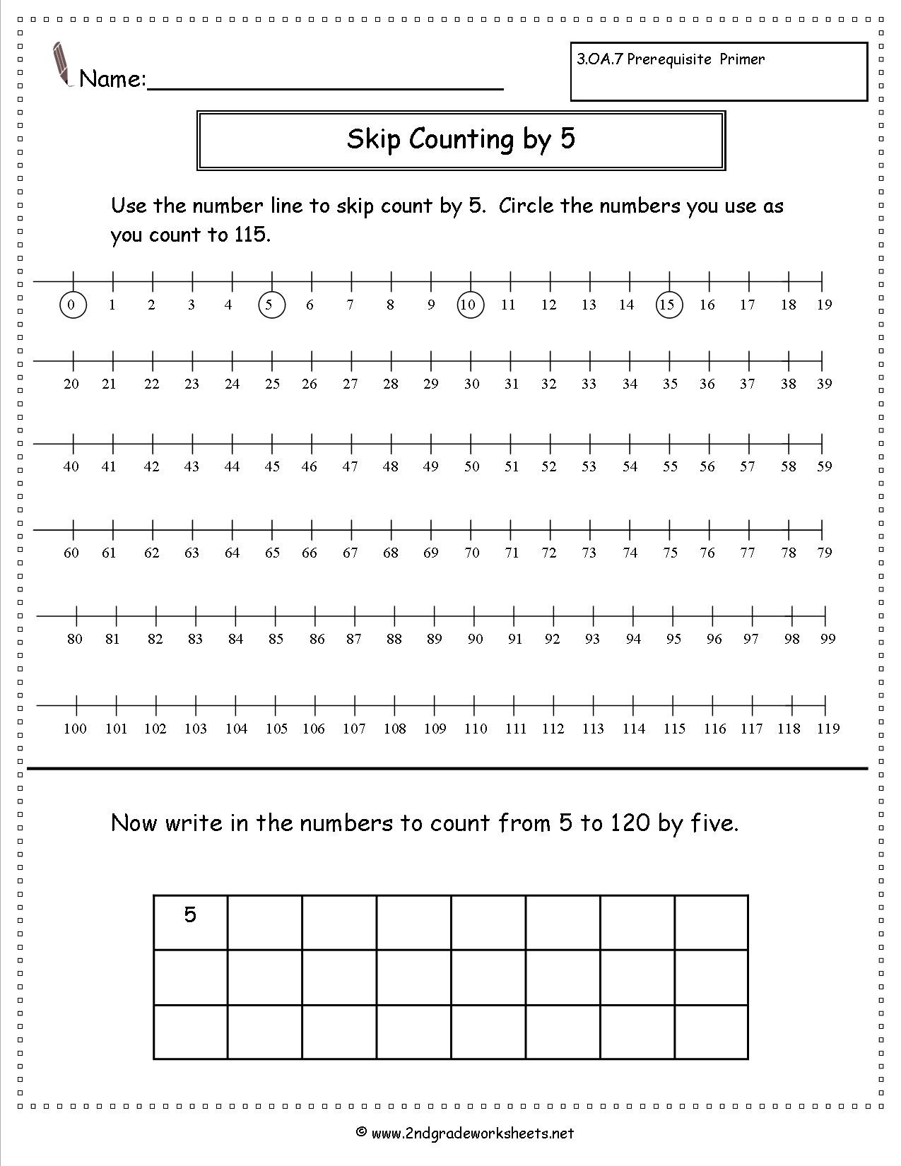 Skip Counting Worksheets First Grade Free Skip Counting Worksheets by