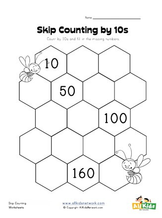 Skip Counting Worksheets First Grade Skip Counting by Tens Worksheet