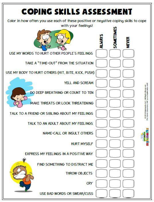 Social Skills Worksheets for Kindergarten Anger Worksheets Coping Skills Activities social Primary