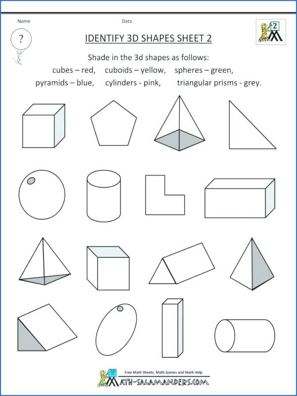 Solid Shapes Worksheets for Kindergarten Printable Shapes Worksheet Color by Shape Train Shapes