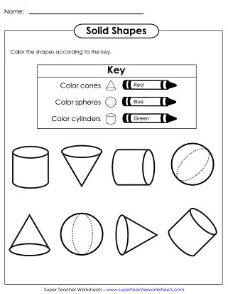 Solid Shapes Worksheets for Kindergarten solid Shapes Worksheets Very Basic