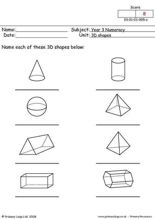 Solid Shapes Worksheets for Kindergarten This Worksheet is A B W Resource Children Name the 3d