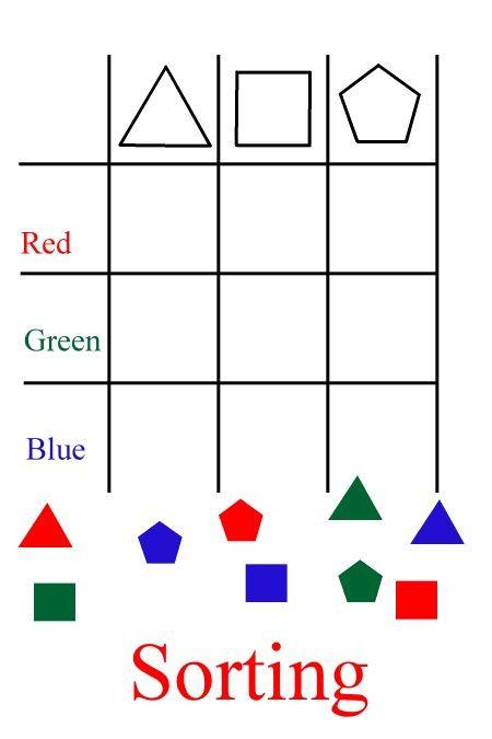 Sorting Shapes Worksheets First Grade sorting Worksheets