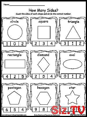 Sorting Shapes Worksheets for Kindergarten Identifying and Counting Shape Sides Free Identifying