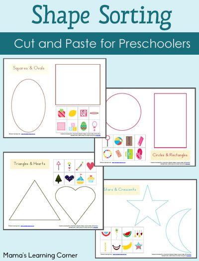 Sorting Shapes Worksheets for Kindergarten Shape sorting Worksheet Packet